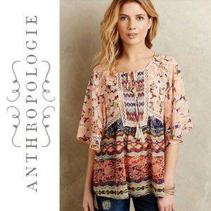 {euc} Anthro Meadow Rue Prairie Blossom Kimono Top